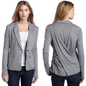 NWT Bcbgmaxazria Grey Draped Jersey Jacket M